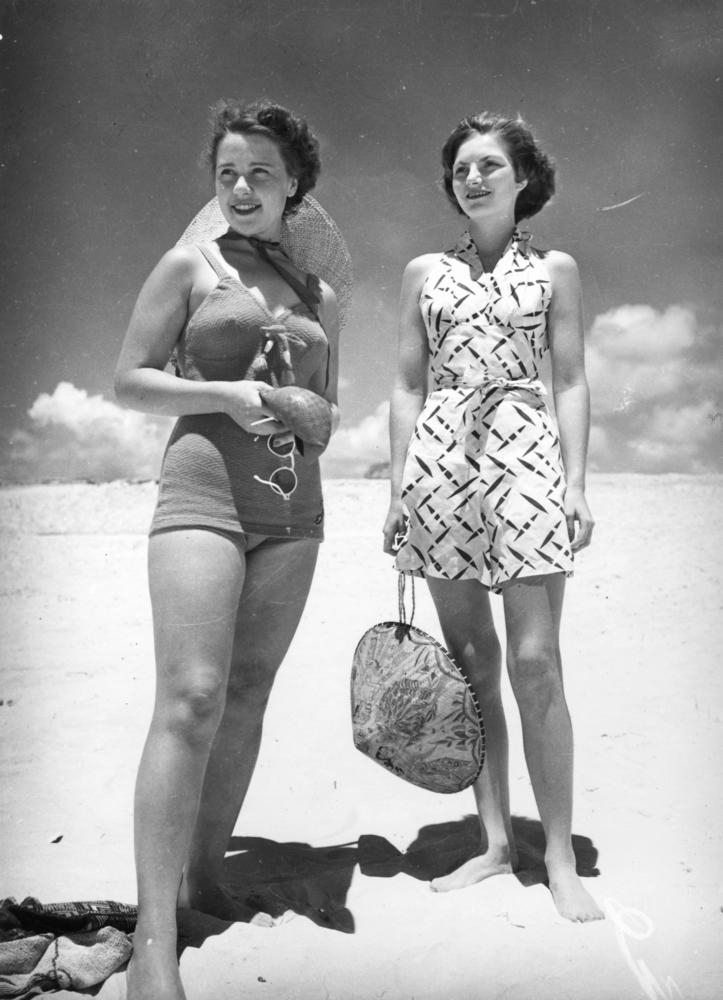 Young women enjoying a day at the beach